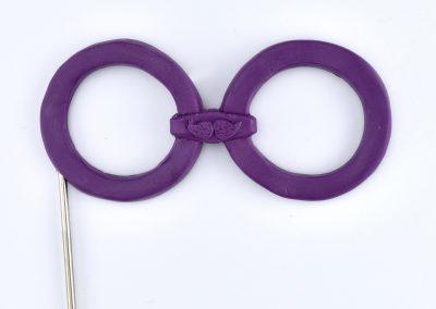 Brille lila
