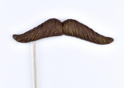 Bart gerade breit braun